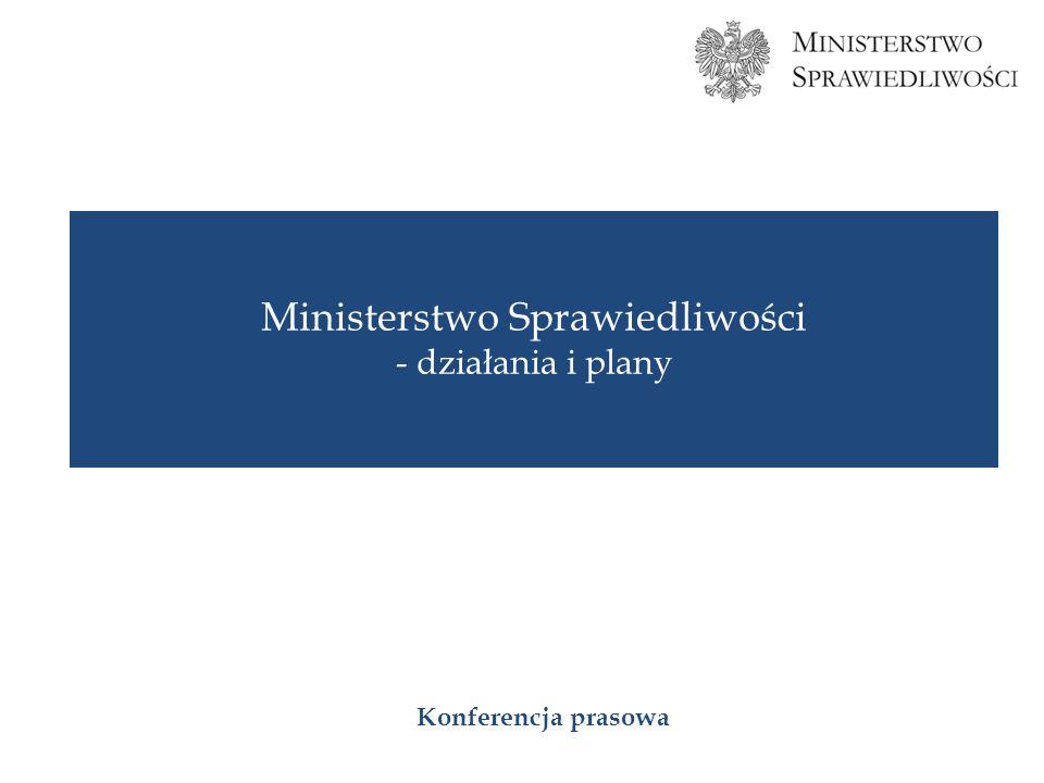 Ministerstwo Sprawiedliwości - działania i plany Konferencja prasowa