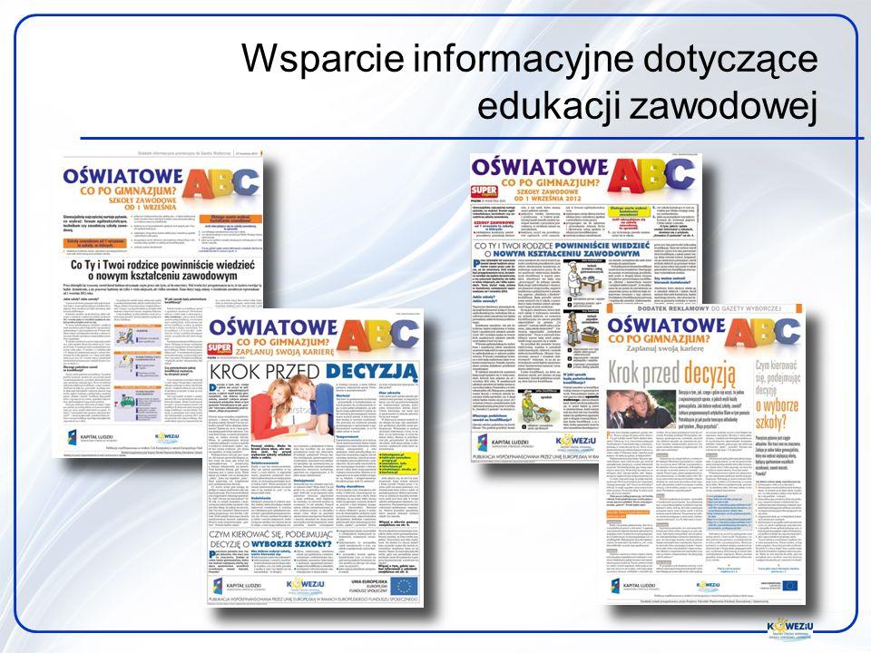 Wsparcie informacyjne dotyczące edukacji zawodowej