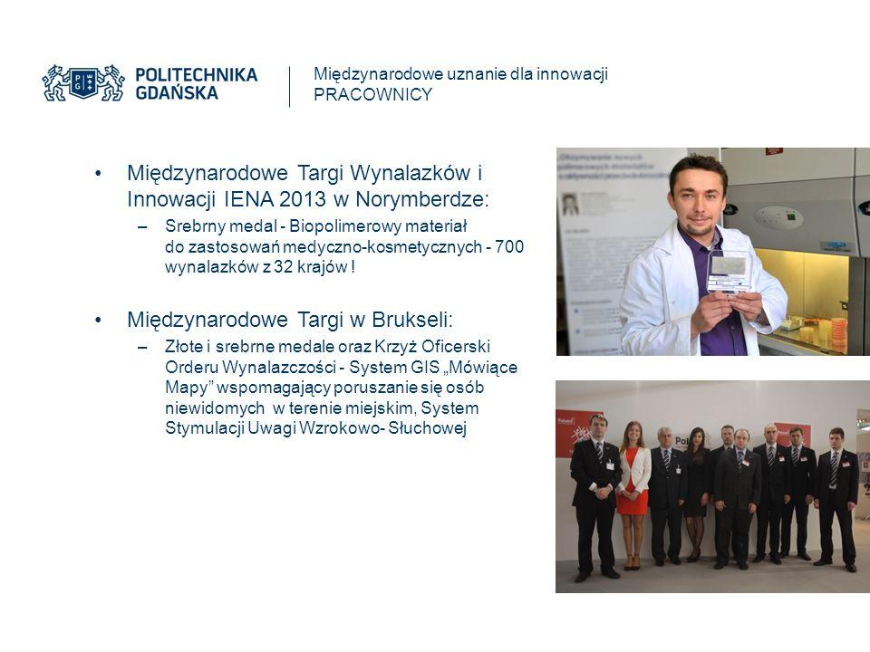 Międzynarodowe Targi Wynalazków i Innowacji IENA 2013 w Norymberdze: –Srebrny medal - Biopolimerowy materiał do zastosowań medyczno-kosmetycznych - 700 wynalazków z 32 krajów .