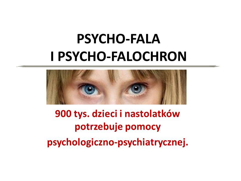 PSYCHO-FALA I PSYCHO-FALOCHRON 900 tys. dzieci i nastolatków potrzebuje pomocy psychologiczno-psychiatrycznej.