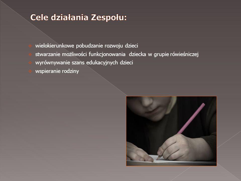 wielokierunkowe pobudzanie rozwoju dzieci stwarzanie możliwości funkcjonowania dziecka w grupie rówieśniczej wyrównywanie szans edukacyjnych dzieci ws