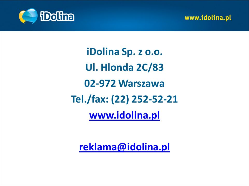 iDolina Sp. z o.o. Ul.