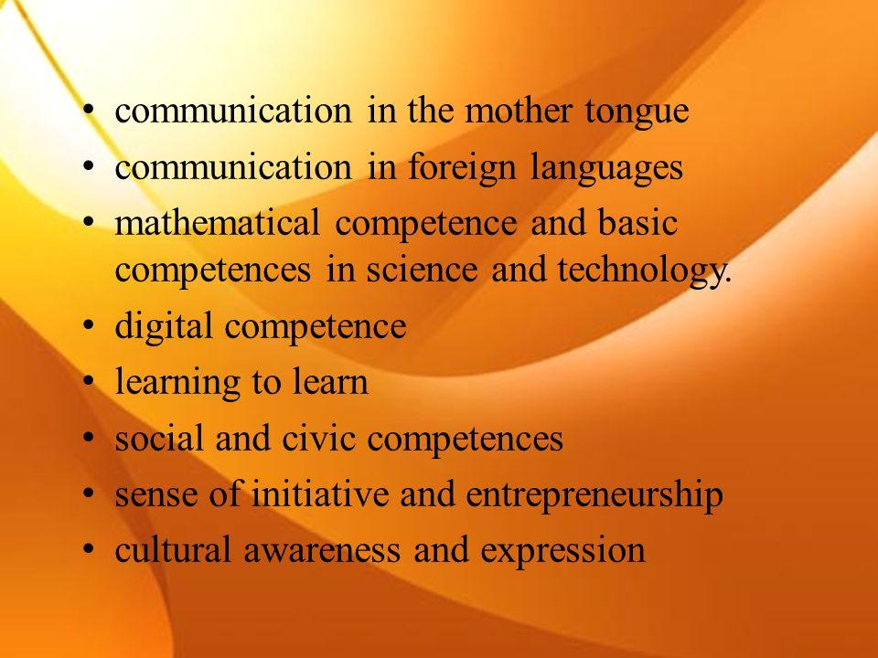 Kompetencje kluczowe w uczeniu się przez całe życie mają stanowić tzw.