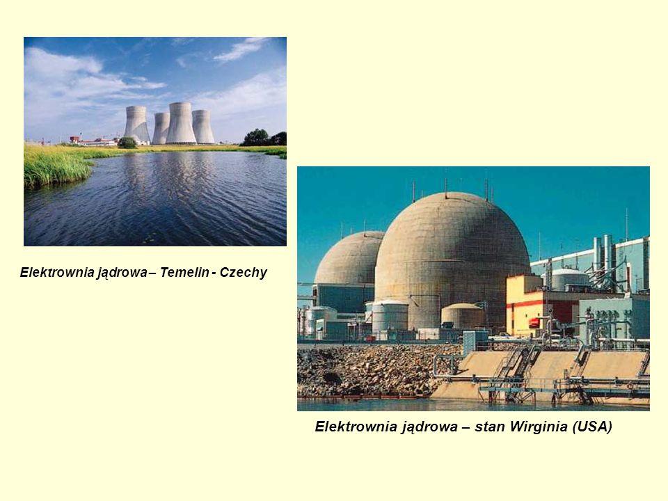 Elektrownia jądrowa – Temelin - Czechy Elektrownia jądrowa – stan Wirginia (USA)