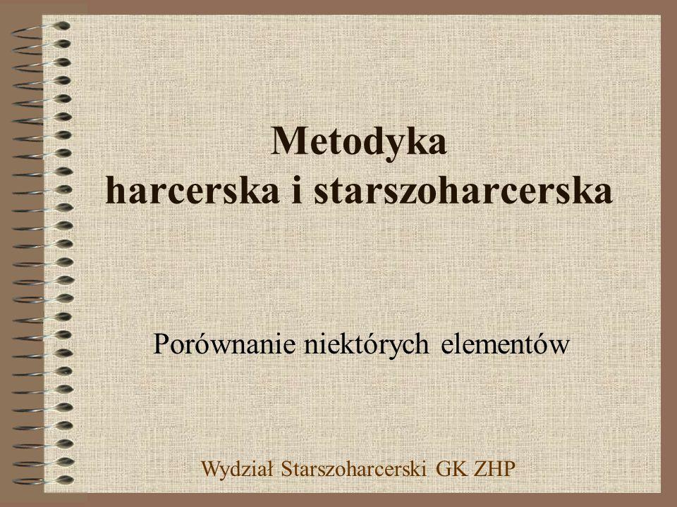 Metodyka harcerska i starszoharcerska Porównanie niektórych elementów Wydział Starszoharcerski GK ZHP