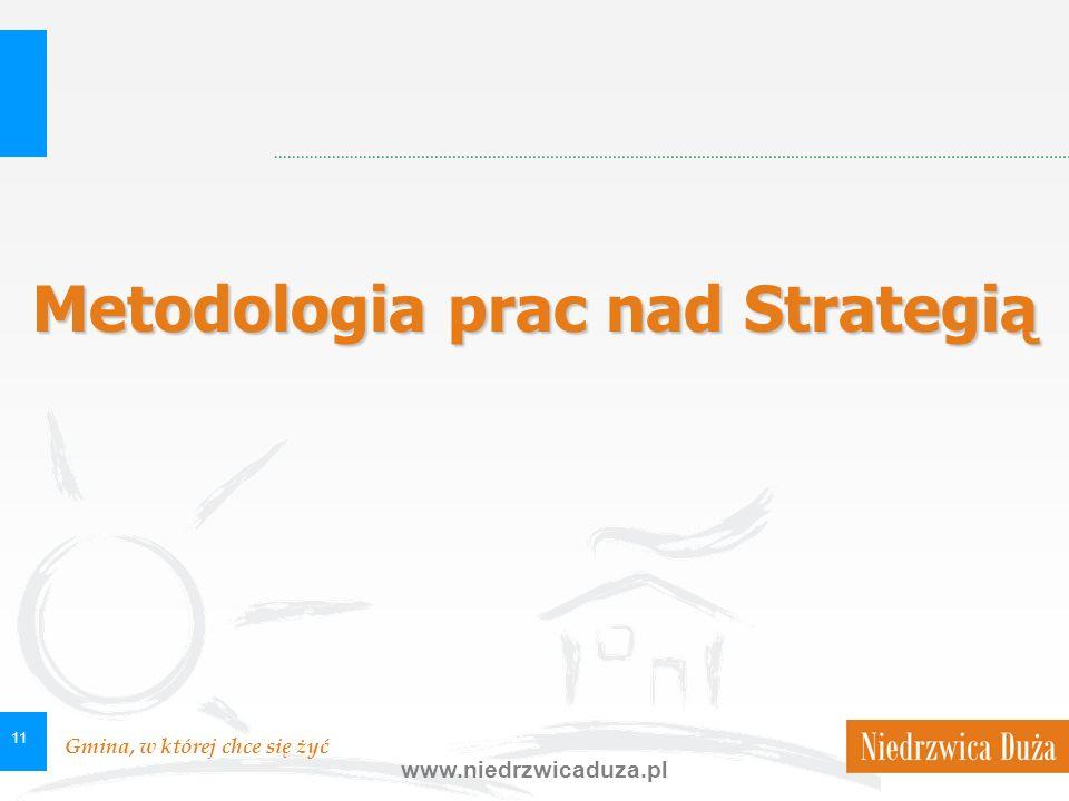 Gmina, w której chce się żyć www.niedrzwicaduza.pl 11 Metodologia prac nad Strategią