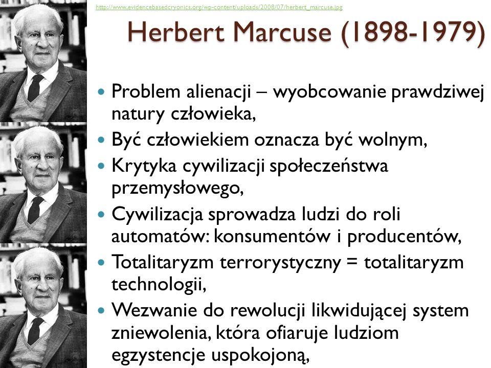 Problem alienacji – wyobcowanie prawdziwej natury człowieka, Być człowiekiem oznacza być wolnym, Krytyka cywilizacji społeczeństwa przemysłowego, Cywi