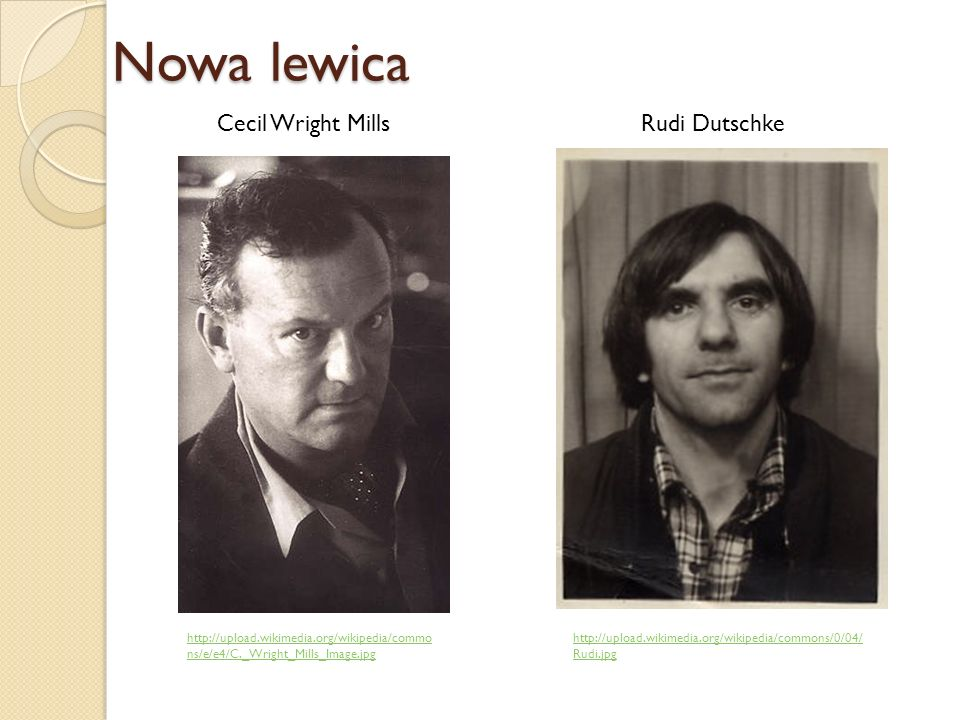 http://upload.wikimedia.org/wikipedia/commo ns/e/e4/C._Wright_Mills_Image.jpg Nowa lewica http://upload.wikimedia.org/wikipedia/commons/0/04/ Rudi.jpg