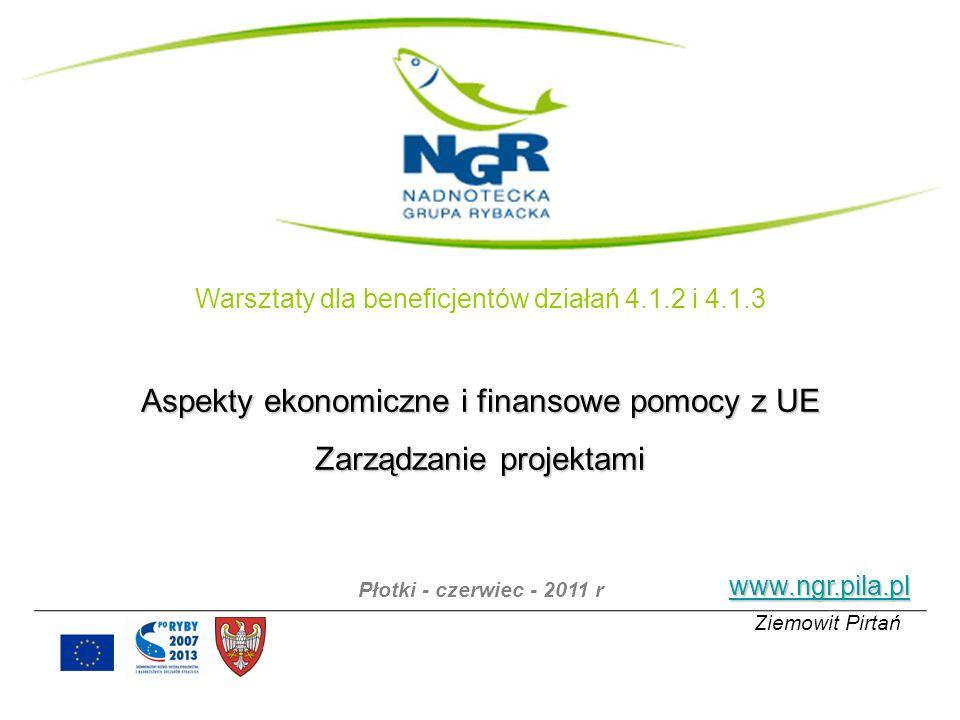 www.ngr.pila.pl Ziemowit Pirtań Warsztaty dla beneficjentów działań 4.1.2 i 4.1.3 Aspekty ekonomiczne i finansowe pomocy z UE Zarządzanie projektami P