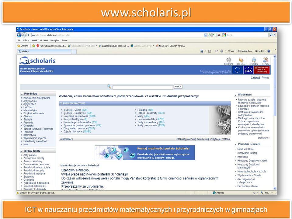 www.scholaris.plwww.scholaris.pl scenariusze lekcji do pobrania w formacie.pdf,.doc,.swx; e-lekcje; ćwiczenia interaktywne; prezentacje multimedialne; symulacje zjawisk i procesów; filmy wideo i animacje; testy i sprawdziany; karty pracy dla ucznia; scenariusze lekcji do pobrania w formacie.pdf,.doc,.swx; e-lekcje; ćwiczenia interaktywne; prezentacje multimedialne; symulacje zjawisk i procesów; filmy wideo i animacje; testy i sprawdziany; karty pracy dla ucznia;