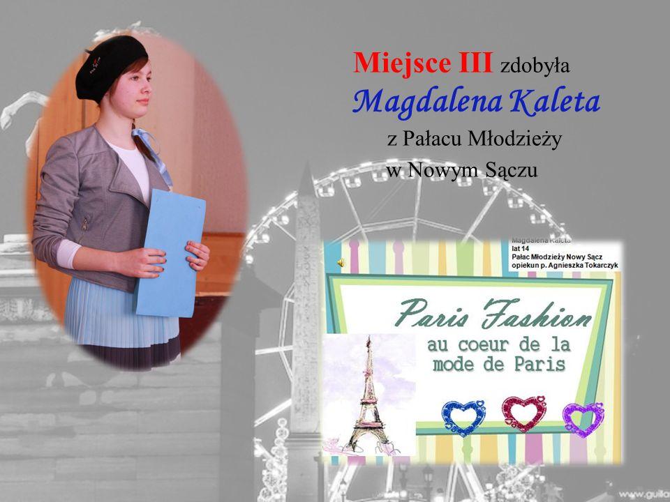 Miejsce III zdobyła Magdalena Kaleta z Pałacu Młodzieży w Nowym Sączu