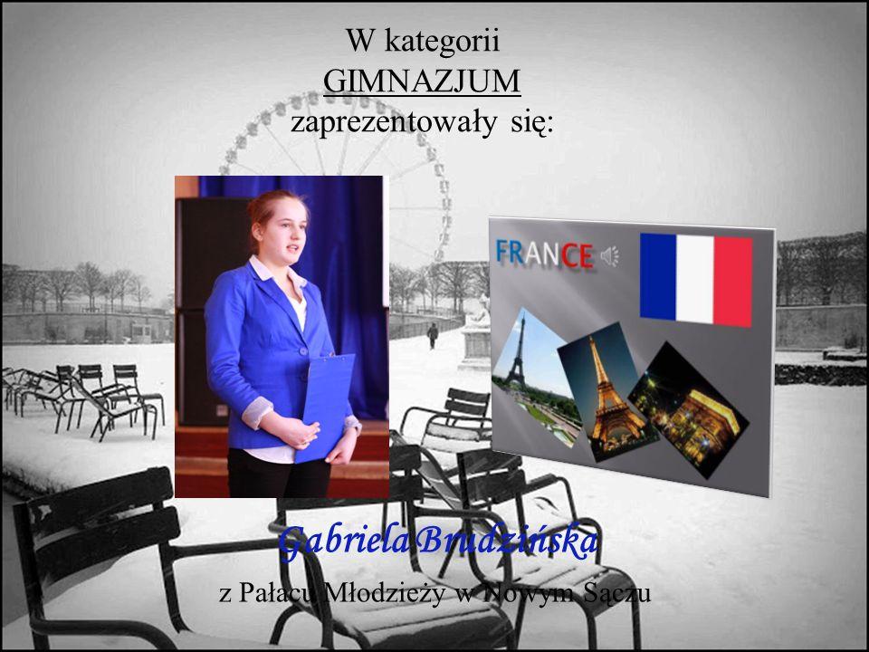 W kategorii GIMNAZJUM zaprezentowały się: Gabriela Brudzińska z Pałacu Młodzieży w Nowym Sączu