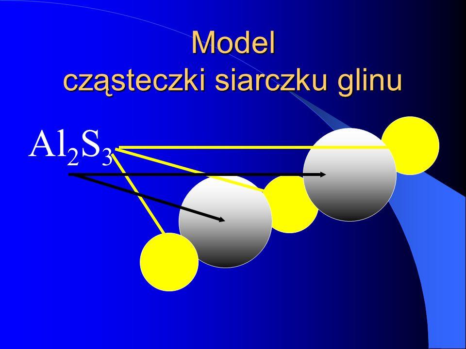 Cząsteczka siarczku glinu S Al 23 IIIII S Al S S Wartościowości pierwiastków III i II nie są podzielne bez reszty Stosujemy metodę na krzyż