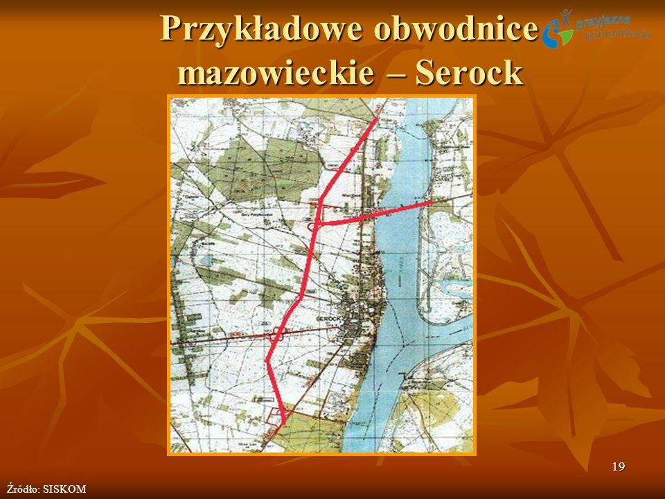 19 Przykładowe obwodnice mazowieckie – Serock Źródło: SISKOM