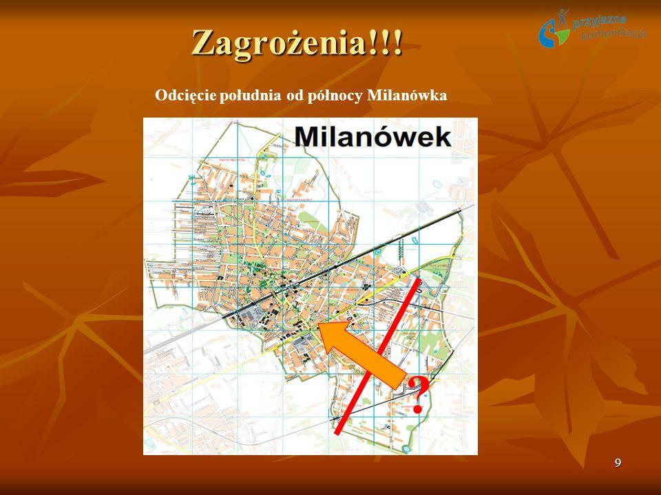 9 Zagrożenia!!! Odcięcie południa od północy Milanówka ?