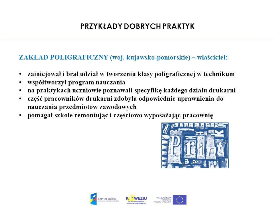 PRZYKŁADY DOBRYCH PRAKTYK ZAKŁAD POLIGRAFICZNY (woj.