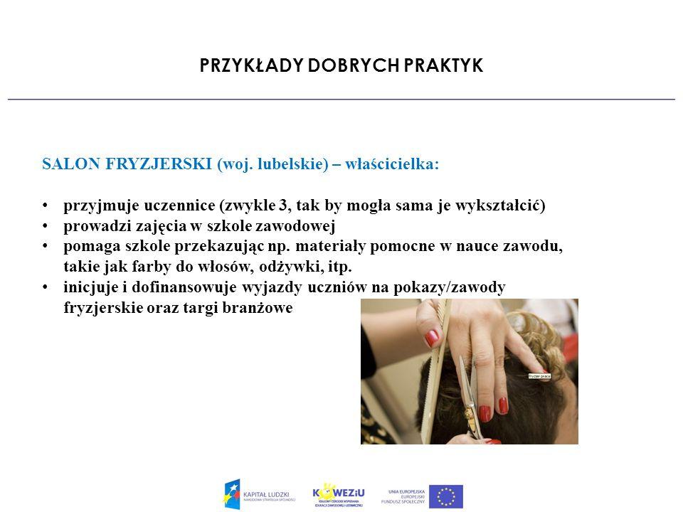PRZYKŁADY DOBRYCH PRAKTYK SALON FRYZJERSKI (woj.