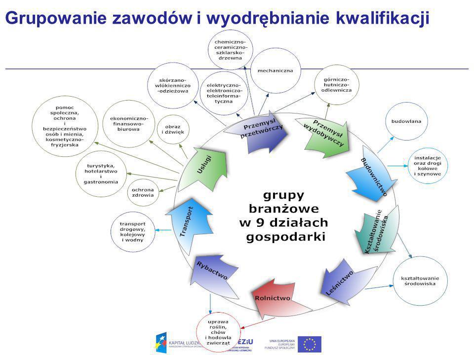 Grupowanie zawodów i wyodrębnianie kwalifikacji