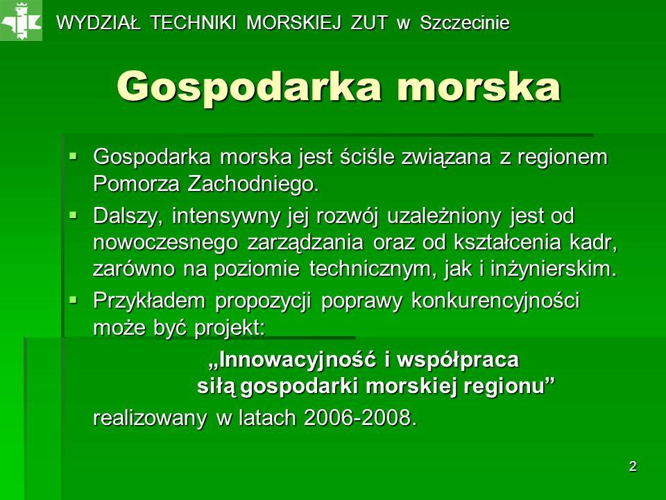 3 Aktualna sytuacja związana z kształceniem na WTM Problemy kilku polskich stoczni produkcyjnych w ostatnich latach mają pewien wpływ na proces rekrutacji na kierunek Oceanotechnika.