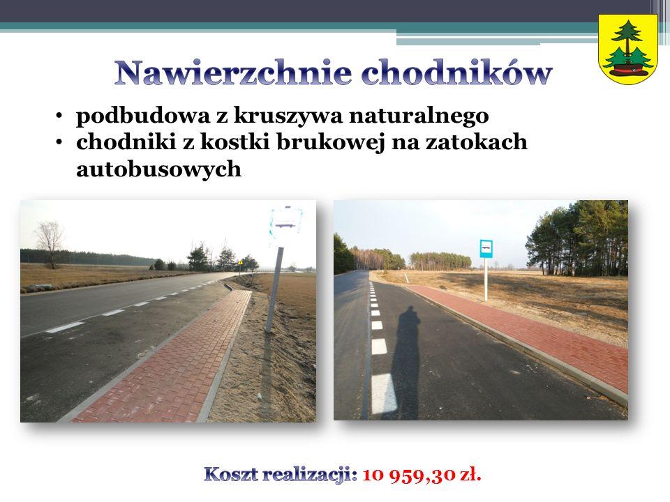 podbudowa z kruszywa naturalnego chodniki z kostki brukowej na zatokach autobusowych