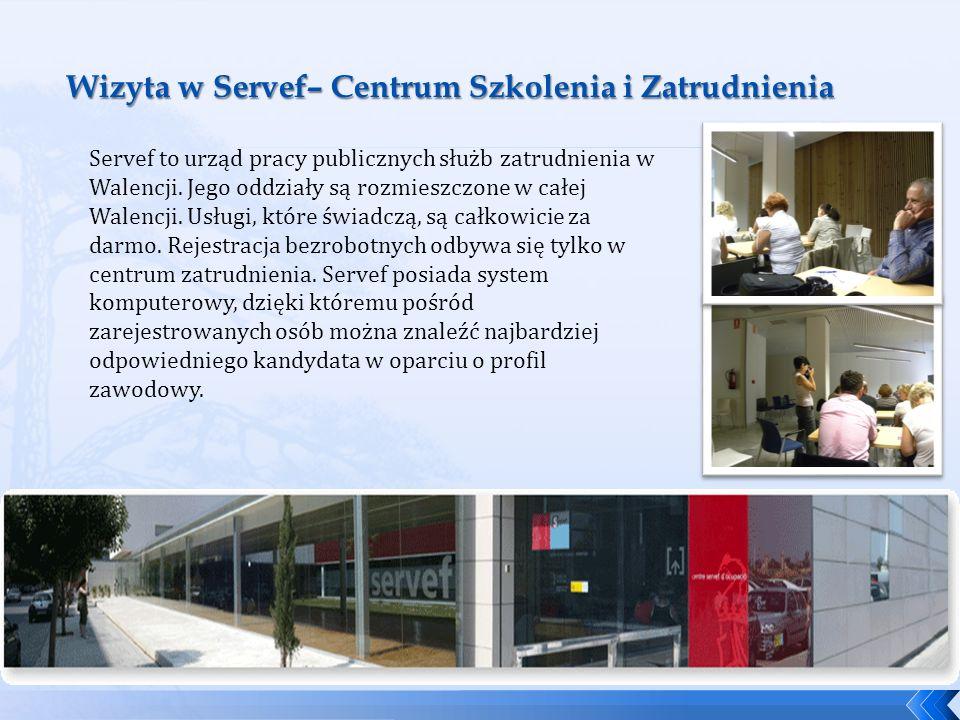 Servef to urząd pracy publicznych służb zatrudnienia w Walencji. Jego oddziały są rozmieszczone w całej Walencji. Usługi, które świadczą, są całkowici