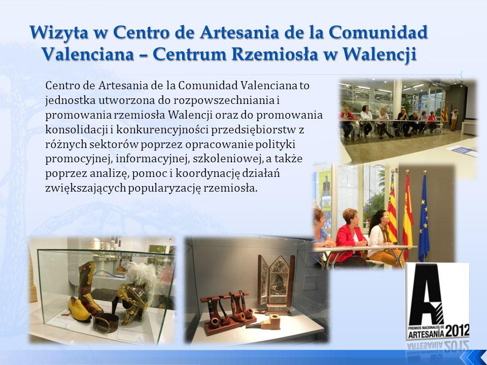 Centro de Artesania de la Comunidad Valenciana to jednostka utworzona do rozpowszechniania i promowania rzemiosła Walencji oraz do promowania konsolid