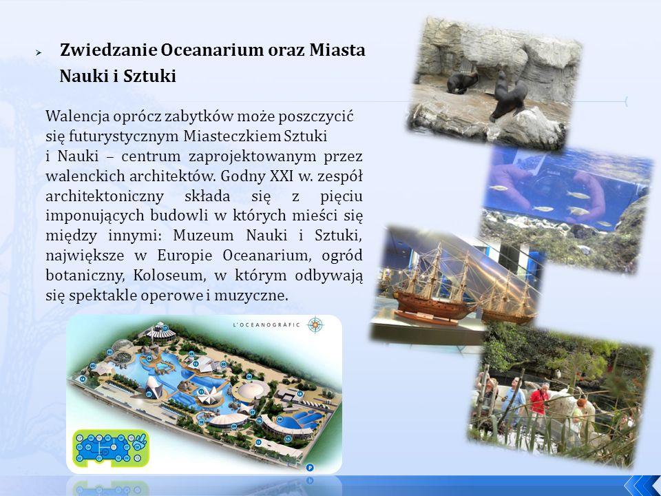 Zwiedzanie Oceanarium oraz Miasta Nauki i Sztuki Walencja oprócz zabytków może poszczycić się futurystycznym Miasteczkiem Sztuki i Nauki – centrum zap