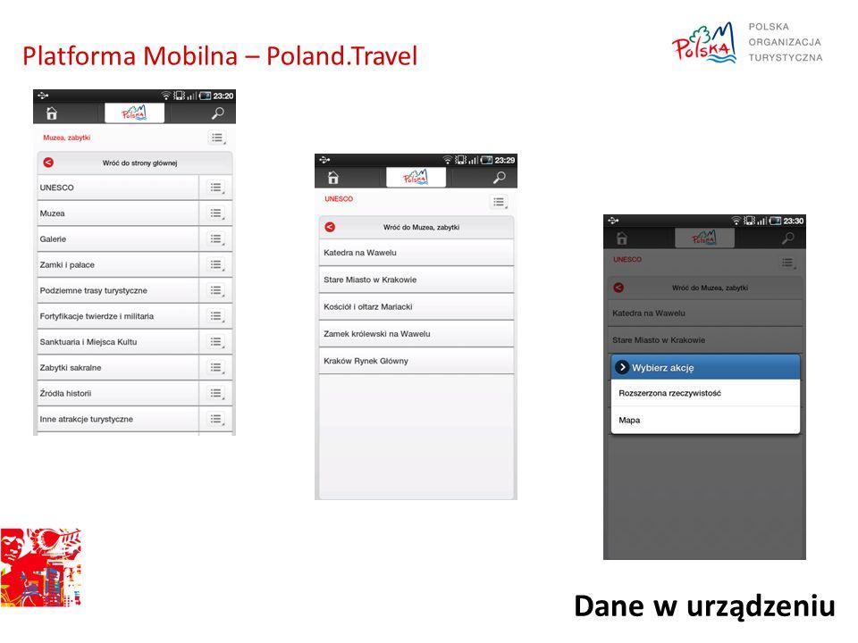 Dane w urządzeniu Platforma Mobilna – Poland.Travel