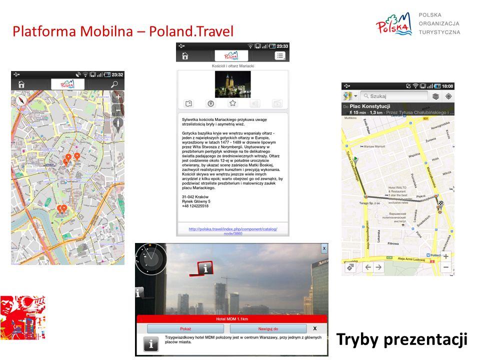 Tryby prezentacji Platforma Mobilna – Poland.Travel