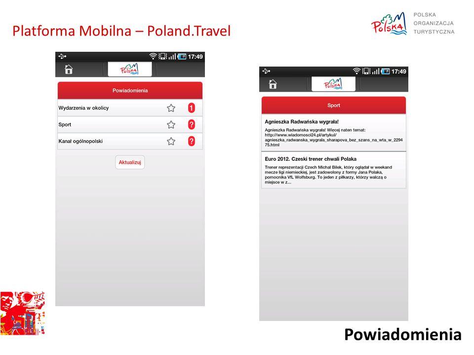 Powiadomienia Platforma Mobilna – Poland.Travel
