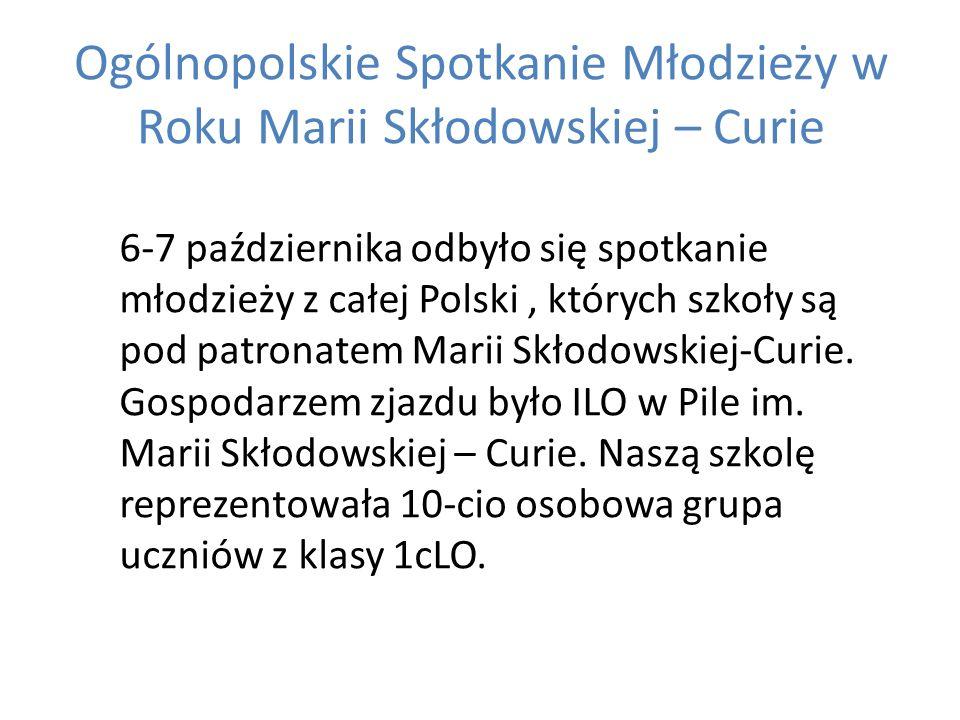 Gospodarzem zjazdu było ILO w Pile im. Marii Skłodowskiej – Curie