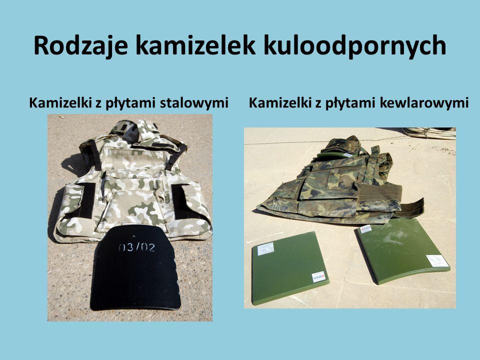 Rodzaje kamizelek kuloodpornych Kamizelki z płytami stalowymiKamizelki z płytami kewlarowymi