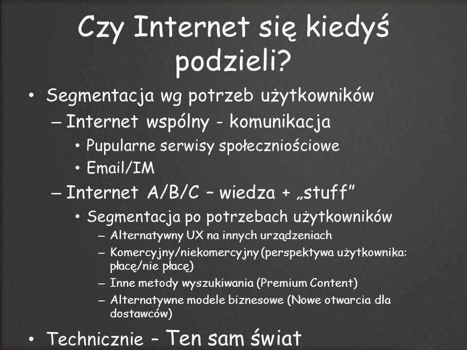 Czy Internet się kiedyś podzieli.