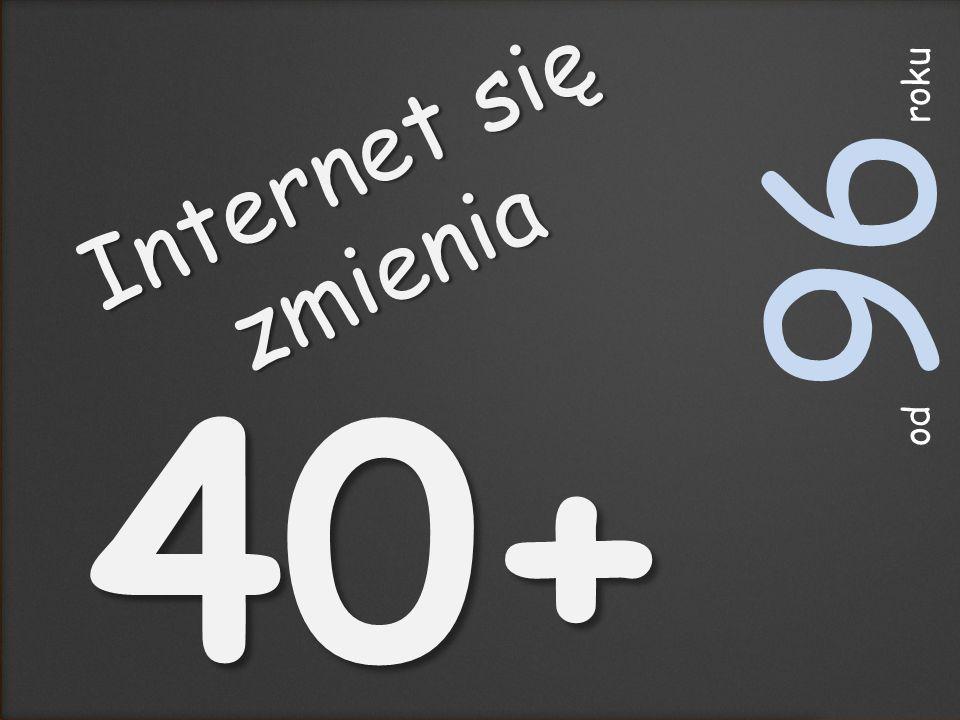 Internet się zmienia 40+ lat od 96 roku