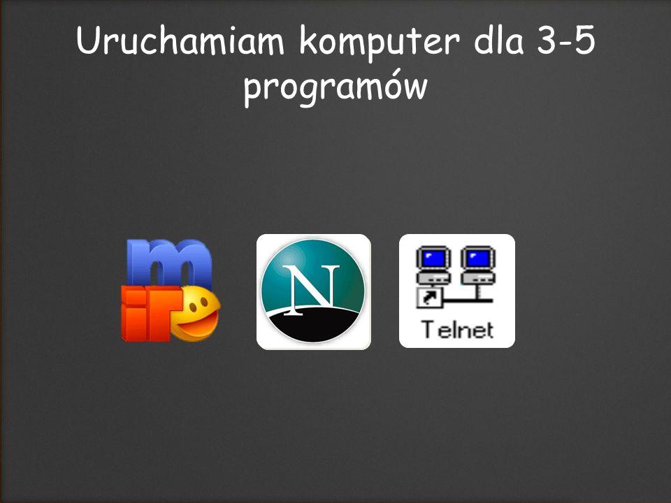 Uruchamiam komputer dla 3-5 programów