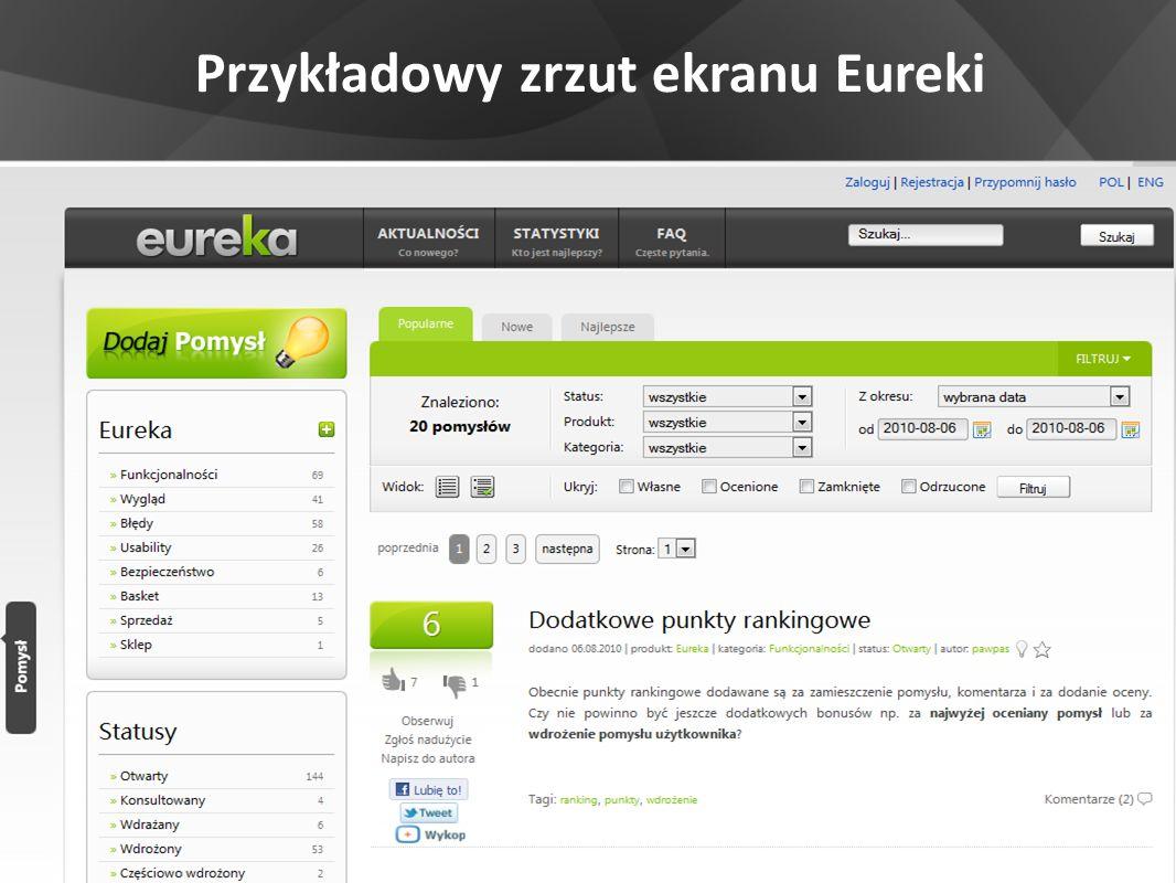 Przykładowy zrzut ekranu Eureki