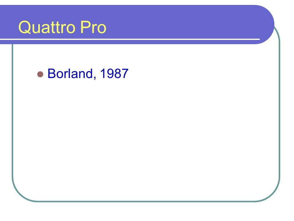 Quattro Pro Borland, 1987