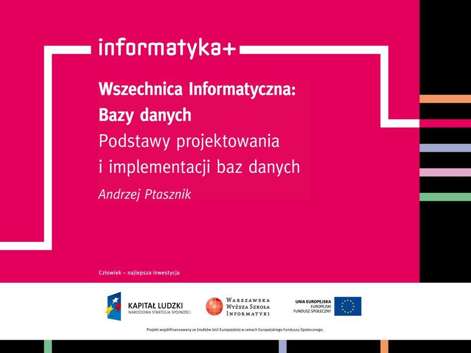 Podstawy projektowania i implementacji baz danych informatyka +2