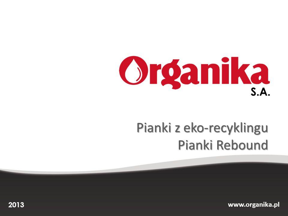 Lider Nowych Technologii 2012, 2013 Innowator 2011 Organika to: Czołowy producent elastycznej pianki poliuretanowej w Polsce i Europie Środkowo-Wschodniej.