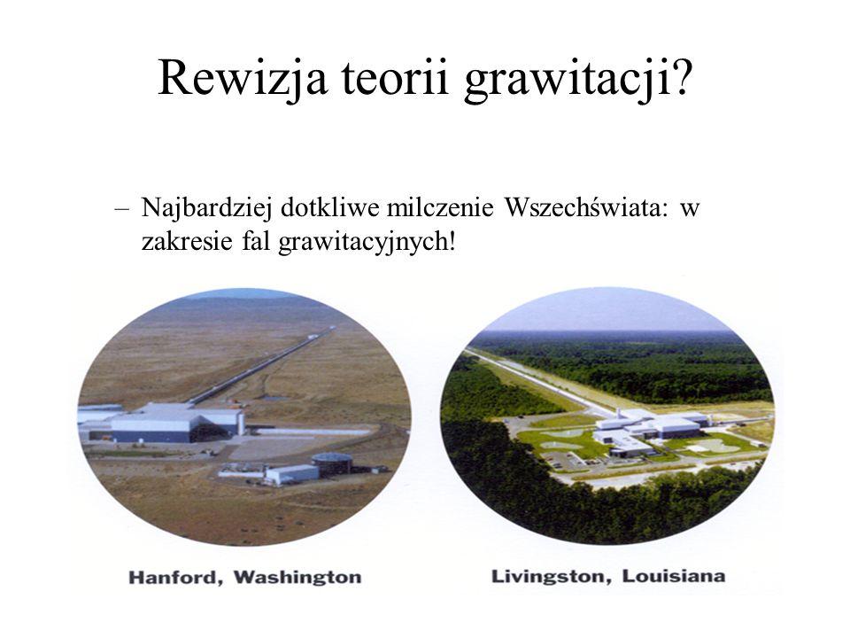 Rewizja teorii grawitacji.