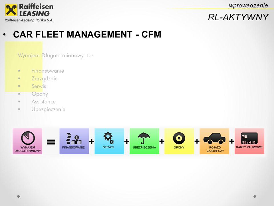 CAR FLEET MANAGEMENT - CFM wprowadzenie RL-AKTYWNY