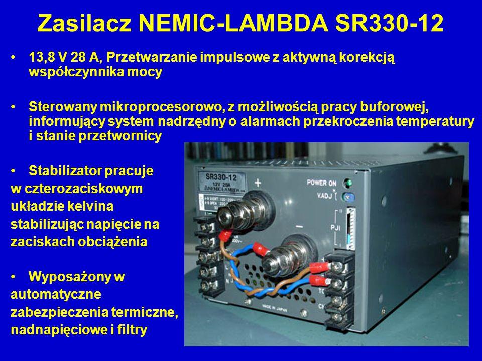 Zasilacz NEMIC-LAMBDA SR330-12 13,8 V 28 A, Przetwarzanie impulsowe z aktywną korekcją współczynnika mocy Sterowany mikroprocesorowo, z możliwością pr