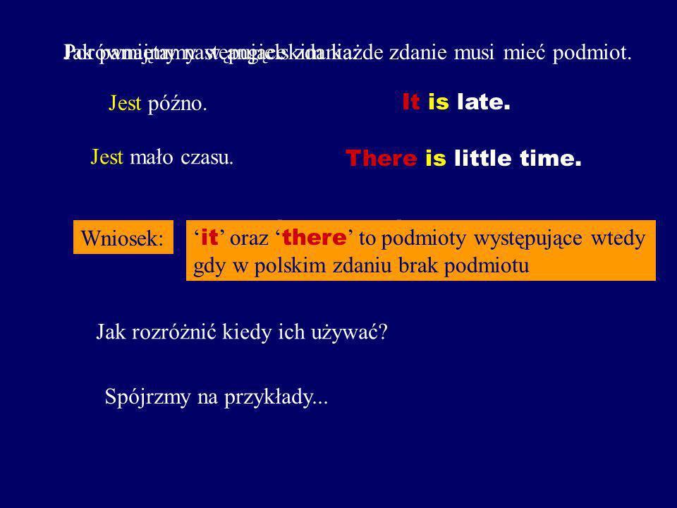 Podsumowanie o czasownikach posiłkowych: BE funkcja gramatyczną, własne znaczenie, stale obecny HAVE DO funkcja gramatyczną, stale obecny funkcja gram