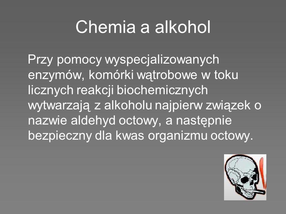 Wędrówka alkoholu przez organizm Wprowadzony do organizmu alkohol zostaje szybko wchłonięty. W przewodzie pokarmowym przenika poprzez ścianę żołądka i
