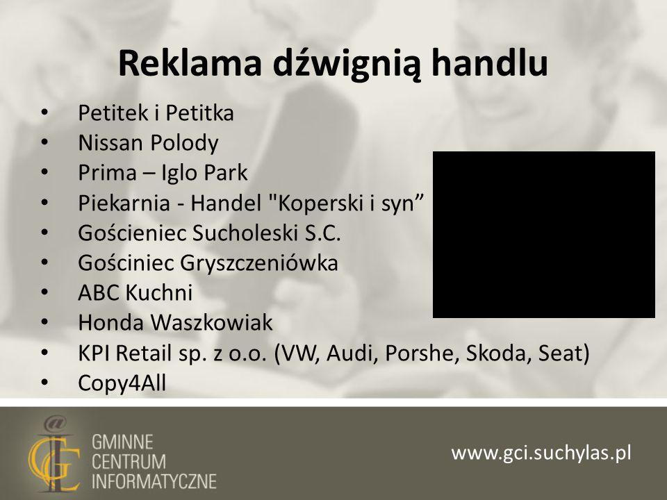 Reklama dźwignią handlu Petitek i Petitka Nissan Polody Prima – Iglo Park Piekarnia - Handel