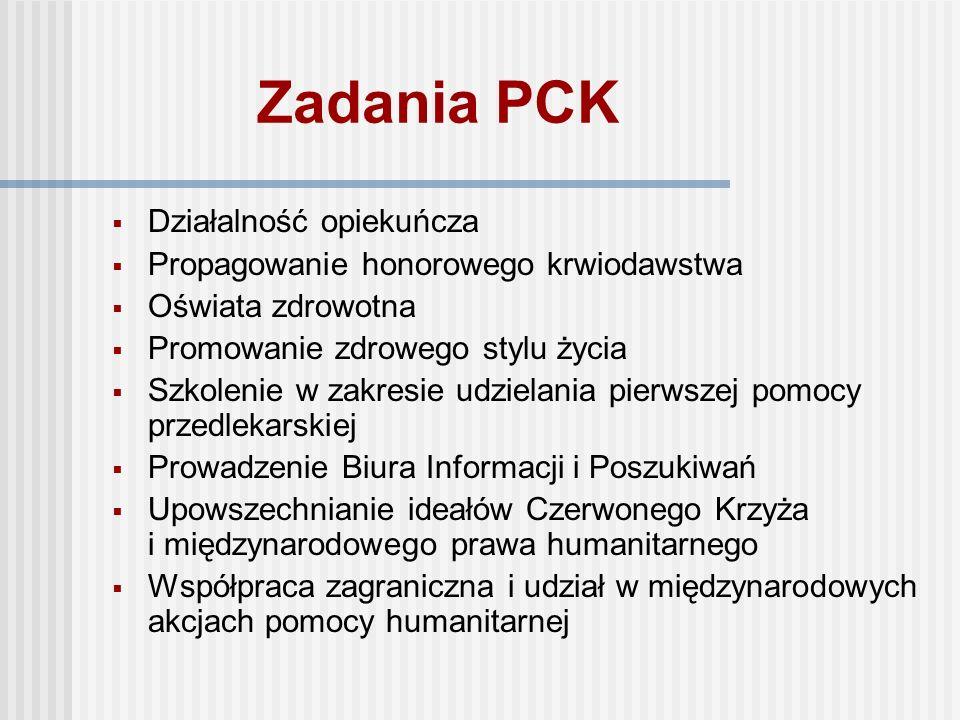 Polski Czerwony Krzyż (PCK) Po zatwierdzeniu przez rząd statutu Polskiego Towarzystwa Czerwonego Krzyża na zebraniu konstytucyjnym 27 kwietnia 1919 r.