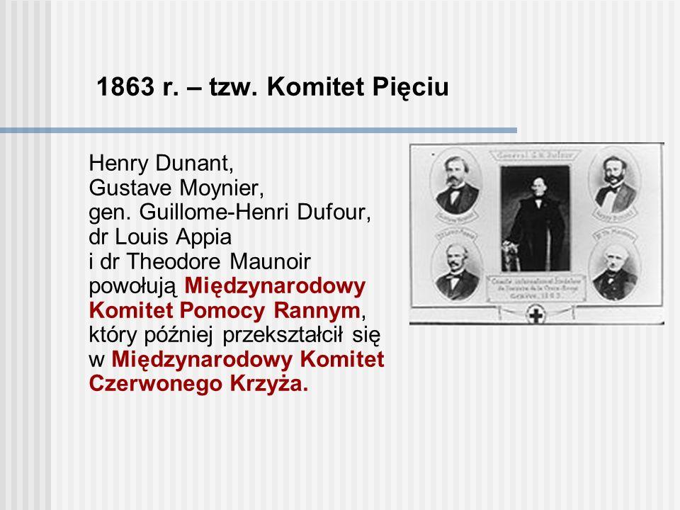 1862 r.– Wspomnienie Solferino Henry Dunant – opisuje w książce wstrząsające przeżycia.