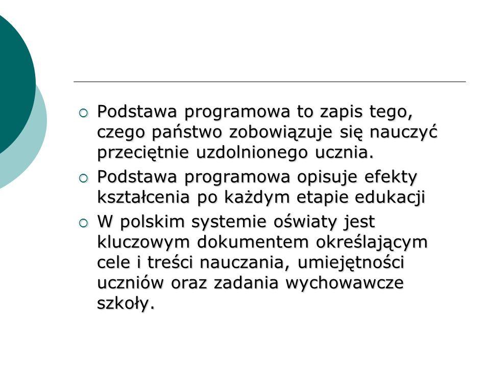 Projekt nowej podstawy programowej został opracowany przez zespół ponad 100 ekspertów, wybitnych przedstawicieli polskiego świata nauki, doświadczonych nauczycieli, metodyków i pracowników systemu egzaminacyjnego.