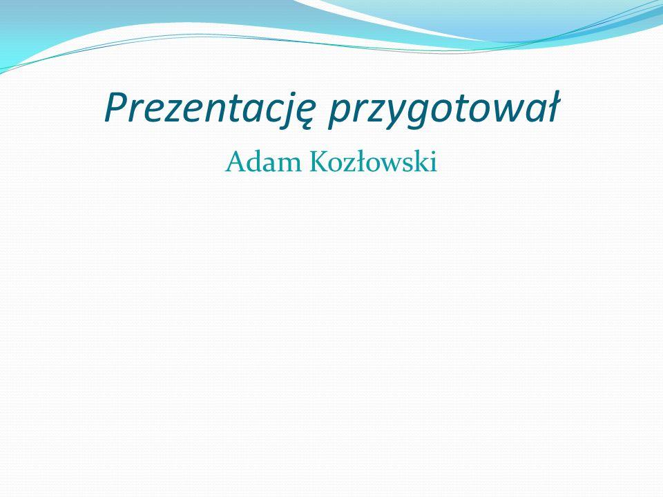 Prezentację przygotował Adam Kozłowski