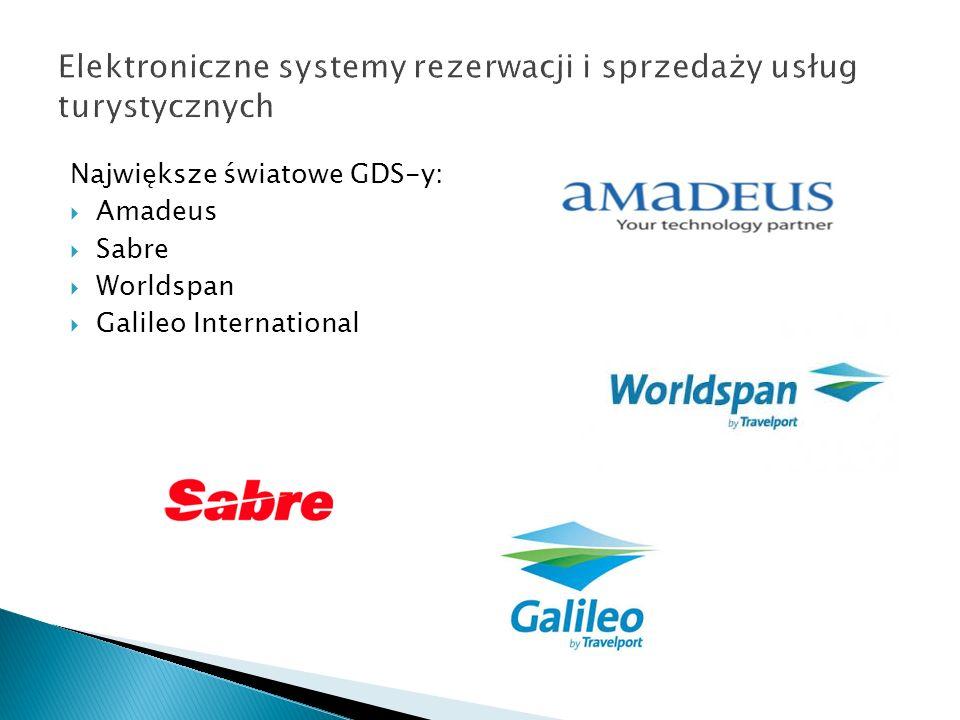 Największe światowe GDS-y: Amadeus Sabre Worldspan Galileo International